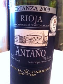 Crianza Spanish wine