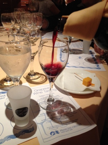 Princess Cruises wine tasting event