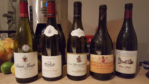 Northern and Southern Rhone wines